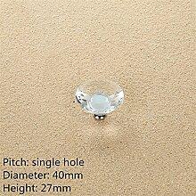 2PCS Diamant-Form-Kristallglas-Kabinett-Knopf-Schrank-Schublade ziehen Handgriff, A21