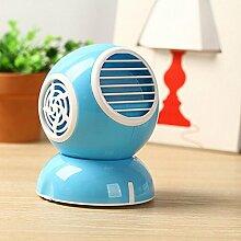 2PCS Duftventilator Mini-Minilüfter-Ventilator-Duftstoffklimaanlagenventilator blattloser Ventilator , blue