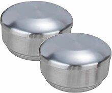 2pcs Edelstahl Bento Box Metall Lunchbox Brotdose