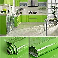 2pcs Elegant Klebefolie PVC 0.61x5M Grün Küchenfolie Dekofolie Schrankfolie Selbstklebend Wasserdicht Möbelfolie Folie Tapeten für Küche Schrank Möbel