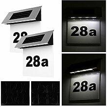 2PCS Hausnummernleuchte Solar, FORNORM Solar