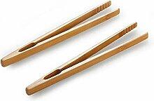 2pcs / lot Bambus Lebensmittel Tongs