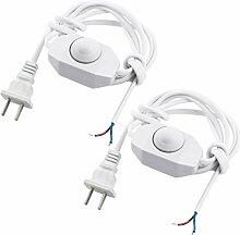 2Pcs US-Stecker AC250V / 110V weiße Lampe