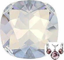 2pcs White Opal 234 Kissen Quadratisch Fancy