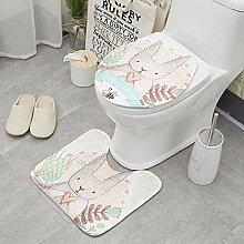 2ST Set-Karikatur-nette Toilette Badmatte