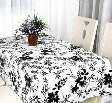 2ST Tang Moine Schwarzer Bambus Kunst Wohnkultur Wild Nicht Mit Öl Verunreinigt Tuch Tischdecke,137*180cm