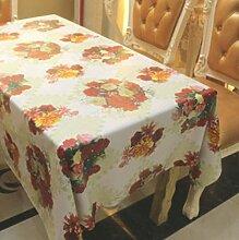 2ST Tang Moine Strauß Hell Festlich Einfach Tisch Tischdecke,137*200cm