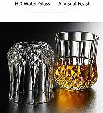 2ST Whiskyglas kreatives Glas Kristall Glas Wein