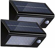 2Stück Solarleuchten Solarlampe Außen 32 LED