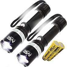 2x 2 LED Taschenlampe Polizei Swat Led Cree Zoom
