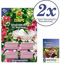2x 20 Stück Compo Orchideen Düngestäbchen +