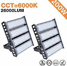 2x 200W LED Flutlicht Industrie Hallenstrahler -