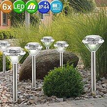 2x 3 Solar Leuchte Außen Steck Lampe Diamant