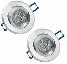 2x 4.5W Warmweiß Led Einbauleuchten Einbaulampen