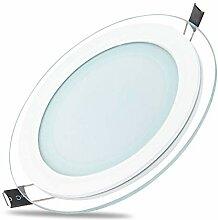 2x 6W LED Panel Glas Abdeckung Einbaustrahler