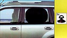 2x Auto SONNENSCHUTZ 44x36cm schwarz Saugnäpfe Sonnenblende Sonnenrollo Baby 48