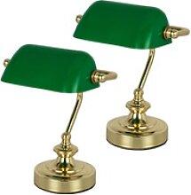 2x Bankerlampe Retro Leuchte Vintage Beleuchtung