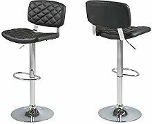 "2x Barhocker Barstuhl Thekenhocker Hocker Loungehocker Stuhl ""Alpini I"" (Schwarz)"