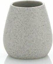 2x Becher Batrium Keramik Natur Stonefinish 10cm Höhe 10cm Durchmesser