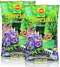 2x Compo Sana Graberde 20 Liter - Dekorative,