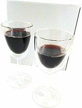 2X doppelwandige Weingläser - Geschenk