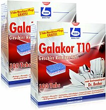 2x Dr. Becher Galakor T10 Geschirr Reiniger Tabs