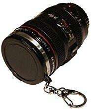2x Espresso Tasse / Shot Becher 50ml als Kamera Objektiv mit Schlüsselanhänger DOPPELPACK