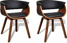 2x Esszimmer Stuhl Stühle Sessel Esszimmerstühle Holzrahmen Sofa Beistellstuhl