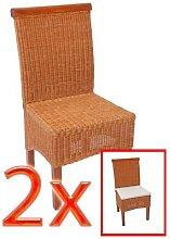2x Esszimmerstuhl Korbstuhl Stuhl M42, Rattan ~