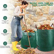 2X Gartenabfallsack 272L,Laubsack Gartensack mit