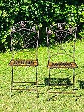 2x Gartenstuhl Paar Stuhl Bistrostuhl
