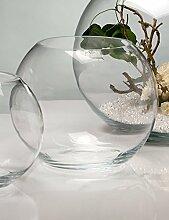 2x Glasvase GLOBE Glas Vase Tischvase Blumenvase