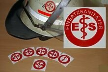 2x Helmaufkleber - ES - Helm Kennzeichnung -