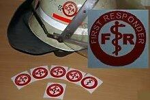 2x Helmaufkleber - FR - Helm Kennzeichnung - First