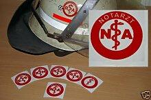 2x Helmaufkleber - NA - Helm Kennzeichnung