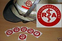 2x Helmaufkleber - RA - Helm Kennzeichnung