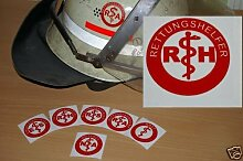 2x Helmaufkleber - RH - Helm Kennzeichnung -