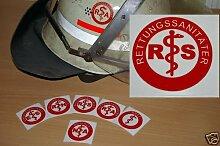 2x Helmaufkleber - RS - Helm Kennzeichnung