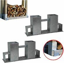 2x Holzstapelhilfe Stapelhilfe Holzstapelhalter