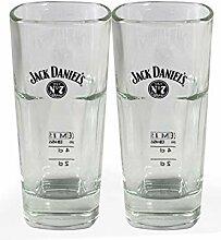 2x Jack Daniels Longdrink Glas Gläser 2/4cl