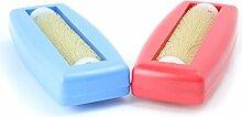 2x Krümelbürste Crumpy, Krümelroller Tischroller Tischbesen Teppichbürste Tischkehrer Handstaubsauger Tischdecken Bürste Auto Caravan Staubsauger Rapido Aspiratutto blau+ro