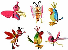 2x Kunststoff Gartenstecker Tier Motive Pflanzstecker Beetstecker Gartendeko