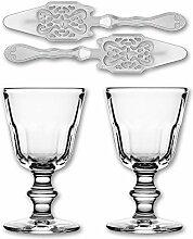 2x La Rochere Absinth Glas Perigord 190 ml + 2x