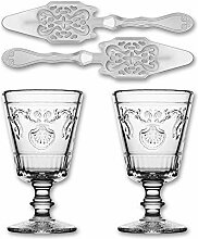 2X La Rochere Absinth Glas Versailles 200ml + 2X