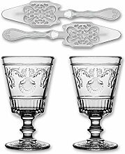 2X La Rochere Absinth Glas Versailles 400ml + 2X