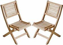 2x Leco Eukalyptus Holz Garten Stuhl Set massiv Möbel Sitzgruppe Stühle Kinder