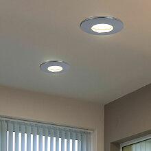 2x LED Einbau Spot Gäste Zimmer Beleuchtung