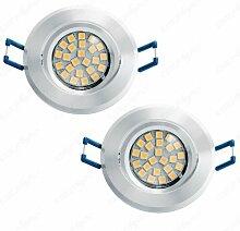 2x Led Einbauleuchten Einbaulampen Einbau Strahler