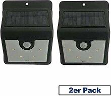 2x LED Solarlampen für Außen | Solarleuchte |