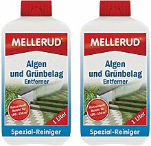 2x MELLERUD Algen und Grünbelag Entferner 1,0 l Algen Moos Stein Reiniger
